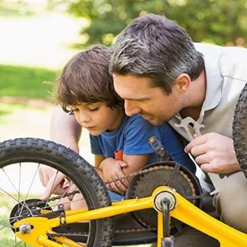 Fengzio Fahrrad Link Zange und Ketten messlehre Kettennieter Werkzeug Fahrradketten Zange und Ketten Prüfer für Rennrad Mountainbike Professionelle Präzisions Fahrrad Reparatur Werkzeug Set - 5