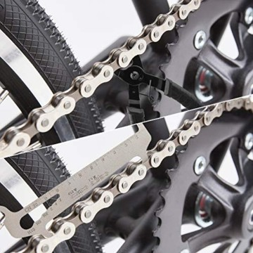 Fengzio Fahrrad Link Zange und Ketten messlehre Kettennieter Werkzeug Fahrradketten Zange und Ketten Prüfer für Rennrad Mountainbike Professionelle Präzisions Fahrrad Reparatur Werkzeug Set - 6