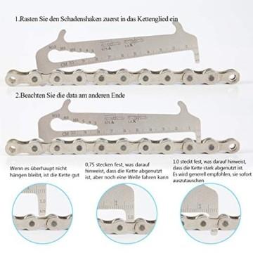 Fengzio Fahrrad Link Zange und Ketten messlehre Kettennieter Werkzeug Fahrradketten Zange und Ketten Prüfer für Rennrad Mountainbike Professionelle Präzisions Fahrrad Reparatur Werkzeug Set - 7