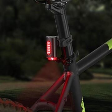FISCHER LED Beleuchtungsset, mit 360° Bodenleuchte für mehr Sichtbarkeit und Schutz, aufladbare Akkus mit USB - 2