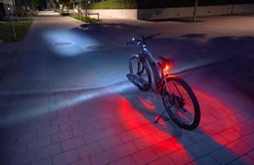 FISCHER LED Beleuchtungsset, mit 360° Bodenleuchte für mehr Sichtbarkeit und Schutz, aufladbare Akkus mit USB - 1