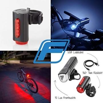 FISCHER LED Beleuchtungsset, mit 360° Bodenleuchte für mehr Sichtbarkeit und Schutz, aufladbare Akkus mit USB - 9