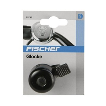 FISCHER Mini Fahrradglocke, schwarz, One Size - 2