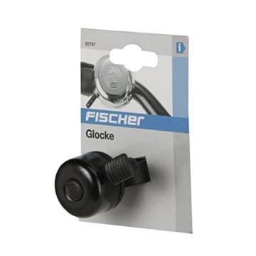 FISCHER Mini Fahrradglocke, schwarz, One Size - 3