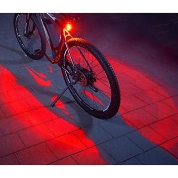 FISCHER Twin Fahrrad-Rücklicht mit 360° Bodenleuchte für mehr Sichtbarkeit und Schutz, aufladbarer Akku - 1
