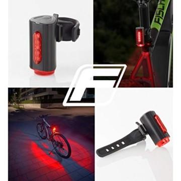 FISCHER Twin Fahrrad-Rücklicht mit 360° Bodenleuchte für mehr Sichtbarkeit und Schutz, aufladbarer Akku - 5