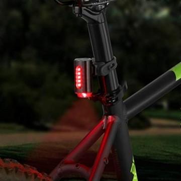 FISCHER Twin Fahrrad-Rücklicht mit 360° Bodenleuchte für mehr Sichtbarkeit und Schutz, aufladbarer Akku - 7