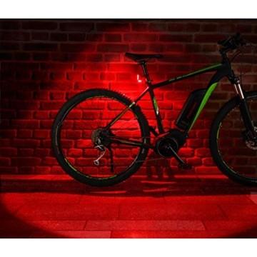 FISCHER Twin Fahrrad-Rücklicht mit 360° Bodenleuchte für mehr Sichtbarkeit und Schutz, aufladbarer Akku - 8