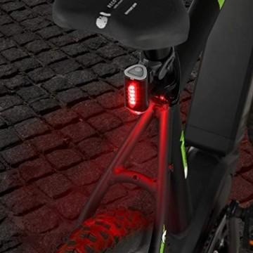 FISCHER Twin Fahrrad-Rücklicht mit 360° Bodenleuchte für mehr Sichtbarkeit und Schutz, aufladbarer Akku - 9