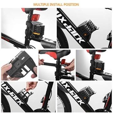 FORMIZON Faltschloss mit Halterung, Fahrradschloss Schlüssel Sicherheitsstufe Level 12 Lang 85cm Kettenschloss für Mountainbike/Rennrad/BMX/MTB Sicherheits Faltschloss (Schwarz) - 4