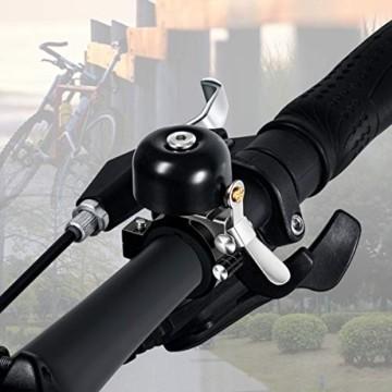 Greallthy Fahrradklingel, Classic Brass Fahrradklingel mit schön lautem Ton Rennrad Mountainbike Horn Fahrradzubehör für Kinder Erwachsene (Schwarz) - 2