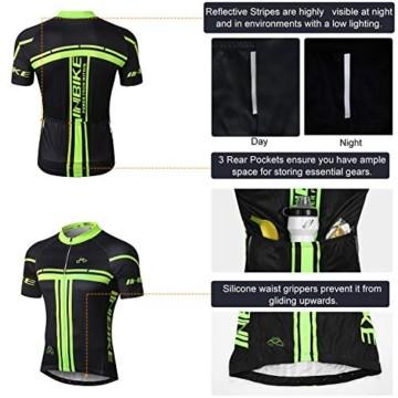 INBIKE Radtrikot Set Herren Fahrrad Trikot Kurzarm Fahrradbekleidung Radhose mit 3D Sitzpolster für Radfahren MTB Jogging,XL - 2