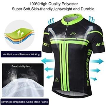 INBIKE Radtrikot Set Herren Fahrrad Trikot Kurzarm Fahrradbekleidung Radhose mit 3D Sitzpolster für Radfahren MTB Jogging,XL - 7
