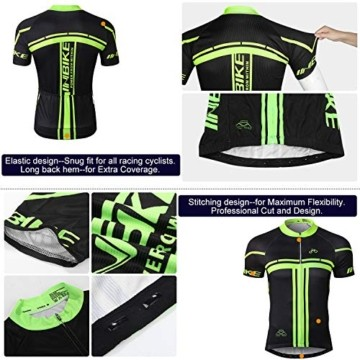 INBIKE Radtrikot Set Herren Fahrrad Trikot Kurzarm Fahrradbekleidung Radhose mit 3D Sitzpolster für Radfahren MTB Jogging,XL - 8