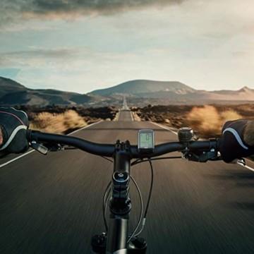 IPSXP Fahrradcomputer Drahtloses wasserdichtes Fahrrad Kilometerzähler Tachometer Automatisches Aufwecken 18 Funktion Radfahren Computer Benutzer A/B LCD-Hintergrundbeleuchtung - 7
