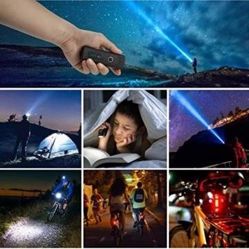 IPSXP Fahrradlicht LED Set - USB Wiederaufladbare Fahrradlichter Fahrradlampe mit Automatischem Lichtsensor - Wasserdicht Frontlicht Rücklicht Fahrradbeleuchtung - 5