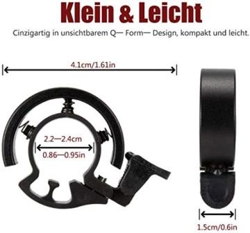 LEBEXY Fahrradklingel Fahrrad Ring mit Lauten Klaren, Fahrradklingel Laute, Fahrradglocke Radfahren, Fahrradhupe Klingel - 4