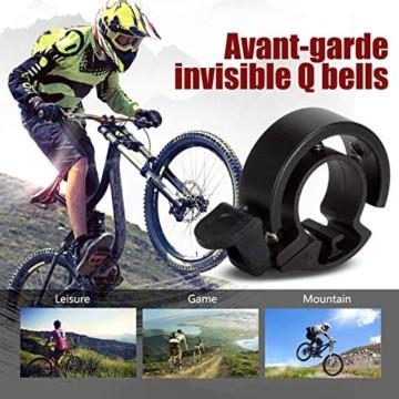 LEBEXY Fahrradklingel Fahrrad Ring mit Lauten Klaren, Fahrradklingel Laute, Fahrradglocke Radfahren, Fahrradhupe Klingel - 5