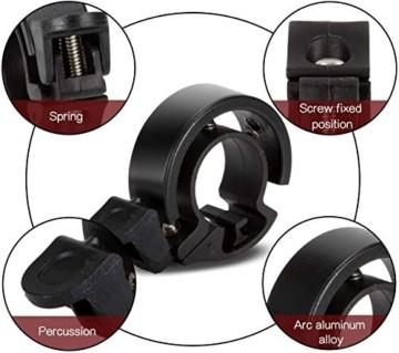 LEBEXY Fahrradklingel Fahrrad Ring mit Lauten Klaren, Fahrradklingel Laute, Fahrradglocke Radfahren, Fahrradhupe Klingel - 6
