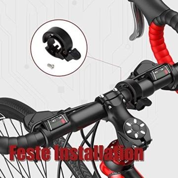 LEBEXY Fahrradklingel Fahrrad Ring mit Lauten Klaren, Fahrradklingel Laute, Fahrradglocke Radfahren, Fahrradhupe Klingel - 7