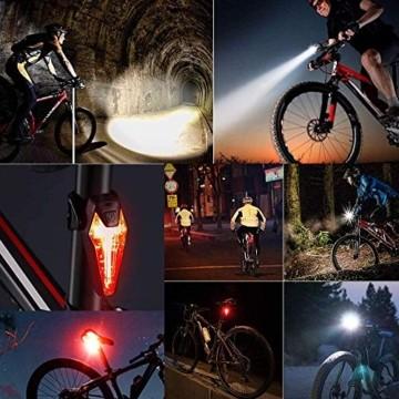 LIFEBEE LED Fahrradlicht Set, StVZO Zugelassen LED Fahrradbeleuchtung Fahrradlampe fahrradlichter USB Wiederaufladbare Set Wasserdicht Frontlicht Rücklicht 2600mAh 300Lumen Licht für Fahrrad Set - 8