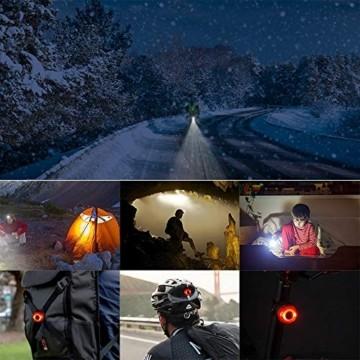 LIFEBEE LED Fahrradlicht Set, StVZO Zugelassen USB Fahrradbeleuchtung Fahrradlampe Frontlicht/Rücklicht, IPX5 Wasserdicht 2600mAh Samsung Li-ion Licht für Fahrrad - 9