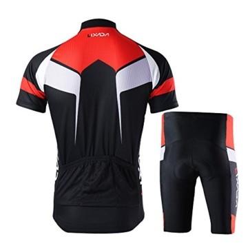 Lixada Herren Radtrikot Set Fahrrad Kurzarm Set Schnelltrocknend Atmungsaktives Shirt + 3D Cushion Shorts Gepolsterte Hose - 3