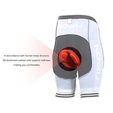 Lixada Herren Radtrikot Set Fahrrad Kurzarm Set Schnelltrocknend Atmungsaktives Shirt + 3D Cushion Shorts Gepolsterte Hose - 7