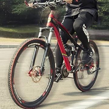 Looxmeer Fahrradschloss Kabelschloss Fahrrad, Hohe Sicherheitsstufe Zahlenschloss mit 5-stelligem Zahlencode für Fahrrad, Motorrad und Elektrofahrzeuge, Schwarz - 5
