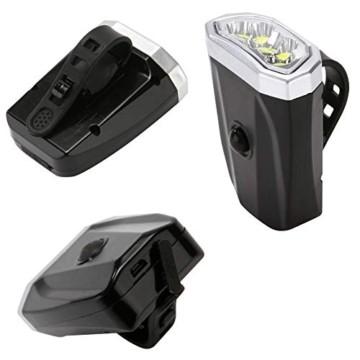 LYYHUA Fahrradlicht Set (2 Pack), wiederaufladbare Fahrradlichter, wasserdichte Fahrrad LED Frontlicht, Fahrradbeleuchtung Fahrradlicht Vorne Rücklicht Set - 3