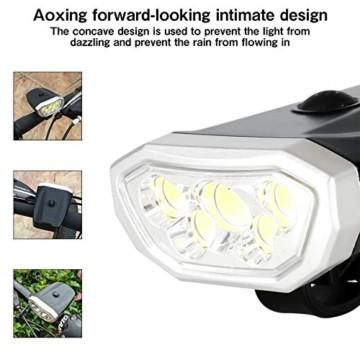 LYYHUA Fahrradlicht Set (2 Pack), wiederaufladbare Fahrradlichter, wasserdichte Fahrrad LED Frontlicht, Fahrradbeleuchtung Fahrradlicht Vorne Rücklicht Set - 7