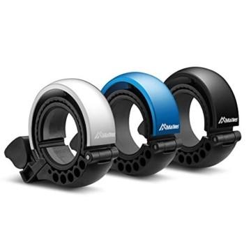 Malker Fahrradklingel,2020 Aluminiumlegierung O-Design Innovative Fahrrad Ring, klaren Sound Fahrradklingeln,ür Lenker von 22,2 bis 31.8mm(Blau) - 4