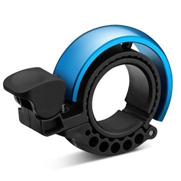 Malker Fahrradklingel,2020 Aluminiumlegierung O-Design Innovative Fahrrad Ring, klaren Sound Fahrradklingeln,ür Lenker von 22,2 bis 31.8mm(Blau) - 1