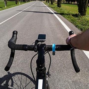 Malker Fahrradklingel,2020 Aluminiumlegierung O-Design Innovative Fahrrad Ring, klaren Sound Fahrradklingeln,ür Lenker von 22,2 bis 31.8mm(Blau) - 5