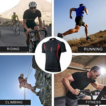 MEETWEE Herren Radtrikot Fahrradtrikot Kurzarm, Fahrradbekleidung Fahrrad Trikot T Shirt für Männer, Atmungsaktive Cycling Jersey Schnell Trocknen Radsport Bekleidung - 7