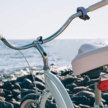 Meowtutu Fahrradklingel, Q Bell laut und hell Radfahren Fahrradglocke MTB Mountainbike Alarm Horn Ring Fahrrad Ring für 22.2-23mm Lenker (Schwarz, 1 Packung) - 3