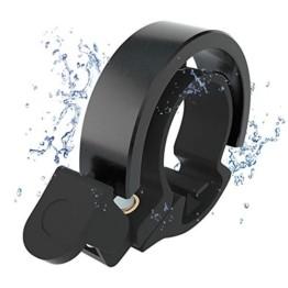 Meowtutu Fahrradklingel, Q Bell laut und hell Radfahren Fahrradglocke MTB Mountainbike Alarm Horn Ring Fahrrad Ring für 22.2-23mm Lenker (Schwarz, 1 Packung) - 1