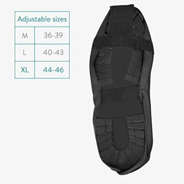 Navaris Schuh-Überzieher Überschuhe Regenschutz Gamaschen - Schutz vor Regen und Schmutz - wasserdicht - für Damen und Herren - versch. Größen - 4
