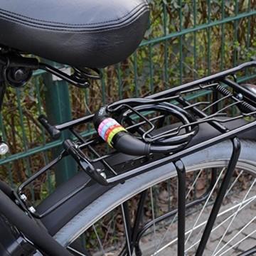 nean Fahrradschloss für Kinder, Zahlen-Code-Kombination-Kabel-Schloss, Schwarz, 10 x 650 mm - 3