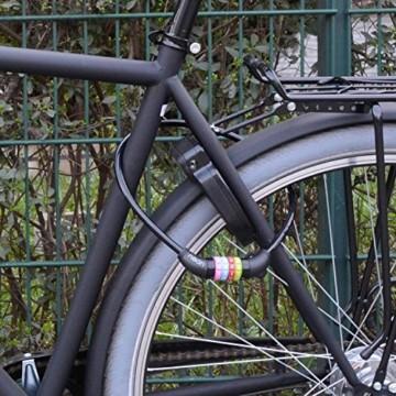 nean Fahrradschloss für Kinder, Zahlen-Code-Kombination-Kabel-Schloss, Schwarz, 10 x 650 mm - 9