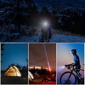 Opard Fahrradlicht - Fahrradlicht Set, Fahrradbeleuchtung LED, Fahrradlampe, USB Aufladbar, StVZO Zulassung Wasserdicht, 2 Licht-Modi Frontlicht und Rücklicht Set - 5