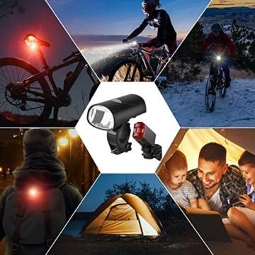 Opard Fahrradlicht - Fahrradlicht Set, Fahrradbeleuchtung LED, Fahrradlampe, USB Aufladbar, StVZO Zulassung Wasserdicht, 2 Licht-Modi Frontlicht und Rücklicht Set - 7