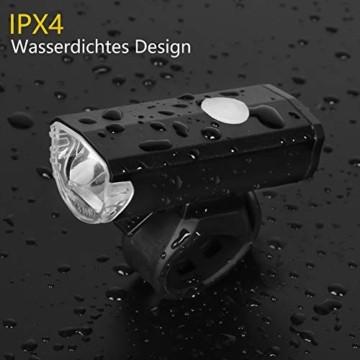 Opard Fahrradlicht, Fahrradlicht StVZO Zugelassen, LED Fahrradbeleuchtung USB Aufladbar, Fahrradlampe Wasserdicht,2 Licht-Modi Frontlicht/Rücklicht (Frontlicht) - 3