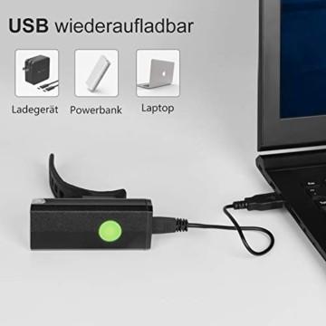 Opard Fahrradlicht, Fahrradlicht StVZO Zugelassen, LED Fahrradbeleuchtung USB Aufladbar, Fahrradlampe Wasserdicht,2 Licht-Modi Frontlicht/Rücklicht (Frontlicht) - 6