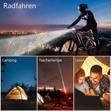 Opard Fahrradlicht, Fahrradlicht StVZO Zugelassen, LED Fahrradbeleuchtung USB Aufladbar, Fahrradlampe Wasserdicht,2 Licht-Modi Frontlicht/Rücklicht (Frontlicht) - 7