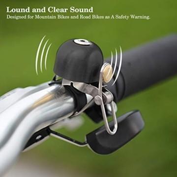 Osaloe Fahrradklingel, Retro Fahrradglocke mit Lauter Ton Fahrradklingel Mountainbike Rennrad für 22-36mm Lenker - 6