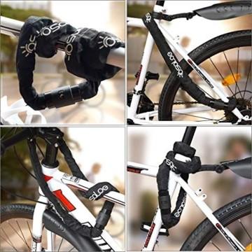 Osaloe Fahrradschloss mit Schlüssel, 6 mm Dickes 100 cm Langes Stahlkette Fahrradschloss Zahlen Schlüsselloch mit wasserdichter Abdeckung, 2 Kupferschlüssel Enthalten - 4