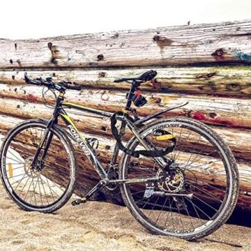 Osaloe Fahrradschloss mit Schlüssel, 6 mm Dickes 100 cm Langes Stahlkette Fahrradschloss Zahlen Schlüsselloch mit wasserdichter Abdeckung, 2 Kupferschlüssel Enthalten - 6