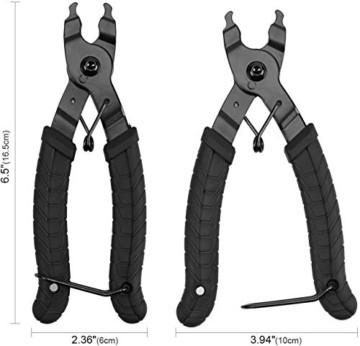 Oumers Zange Kette Werkzeuge, Werkzeug Kettenverschlussgliedzange Kette Zange fehlt Link 2 in 1 Opener Schließer Zange/Bike Kette Werkzeug kompatibel mit Allen Speed Chains Reparatur - 7