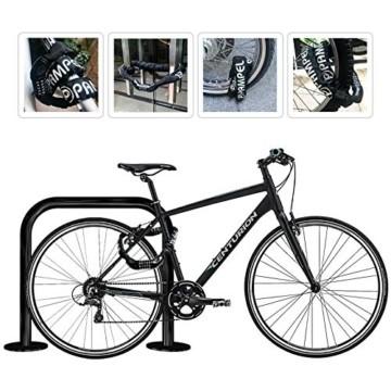 Pampel Fahrradschloss Fahrrad Kettenschlösser mit 5-stelliges Zahlen-Code-Kombi,Hoher Sicherheitsstufe für Fahrrad/Motorrad/Mountainbike/Roller/Elektrofahrzeuge(100cm und 700g),Schwarz - 7